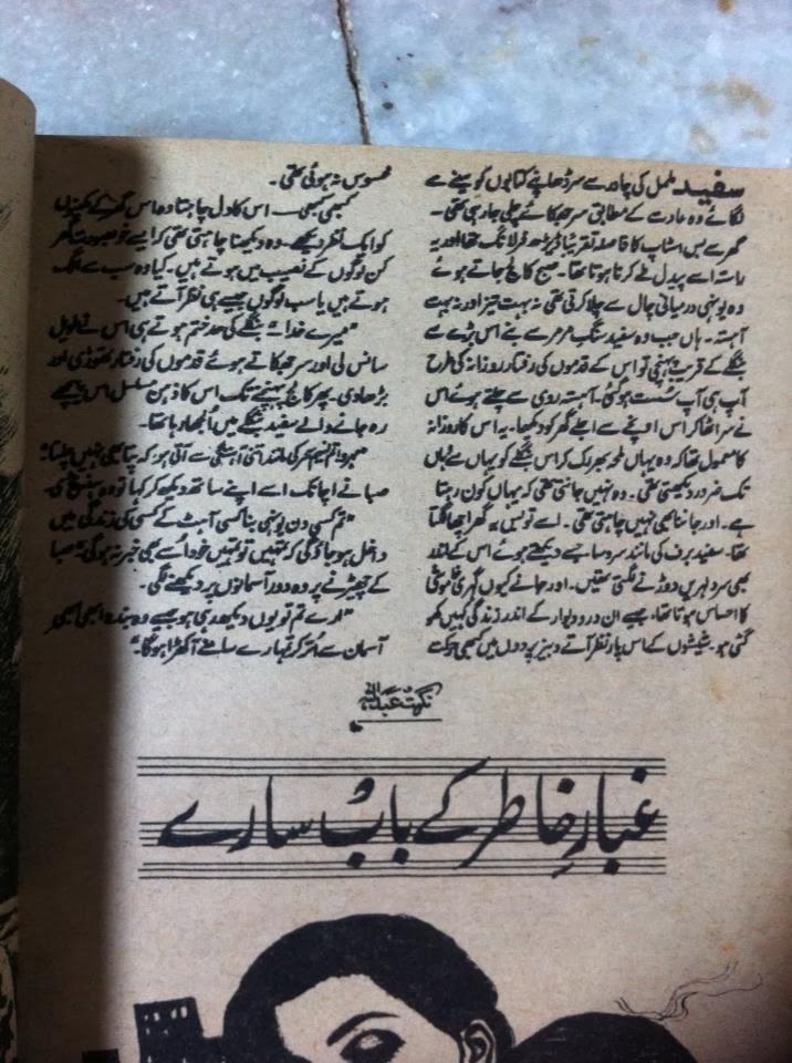 Ghubar e khatir ke baab saray by Nighat Abdullah Online Reading