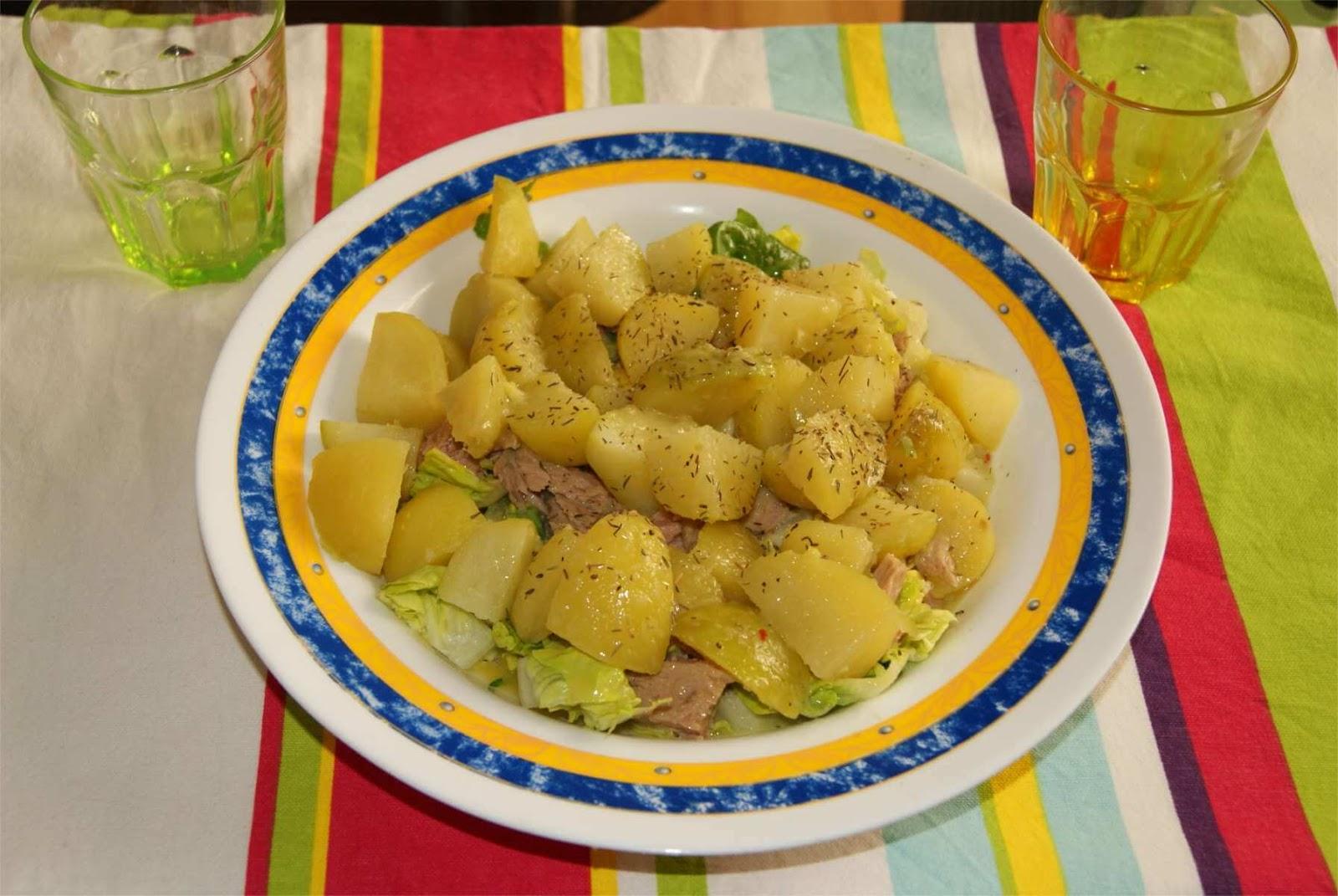 Receta de ensalada de patatas al guacamole