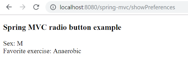 Spring form tag library radiobutton tag