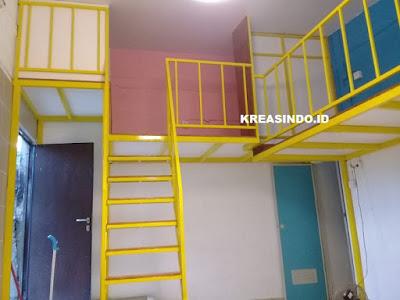 Ini Dia penampakan Mezzanine Besi untuk Ruang Tidur yang dipesan Oleh Bpk Andre di Cibinong