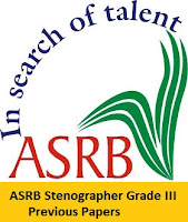 ASRB Stenographer Grade III Previous Papers