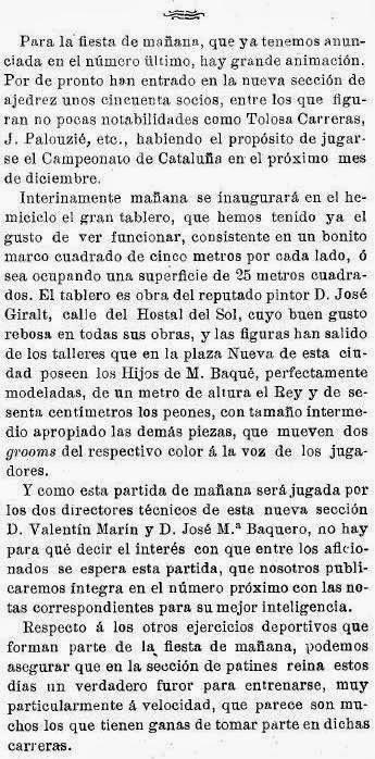 Recorte de prensa: Los Deportes nº 326, 19 Noviembre de 1904