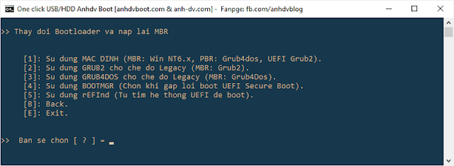 How to change Bootloader for USB/HDD Boot Anhdv Boot 2020