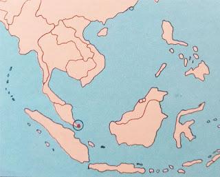 Gambar Peta letak negara Singapura