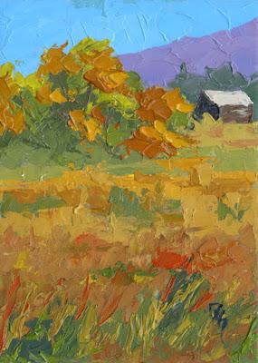 art painting landscape autumn fall season color