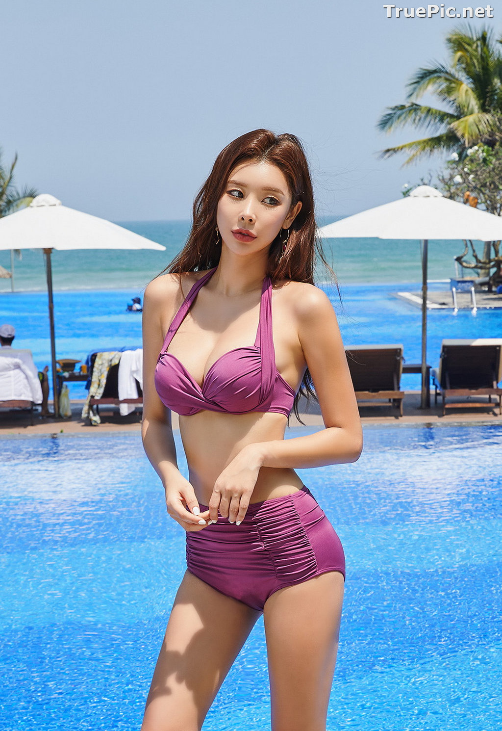 Image Park Da Hyun - Korean Fashion Model - RoseMellow Purple Bikini - TruePic.net - Picture-7