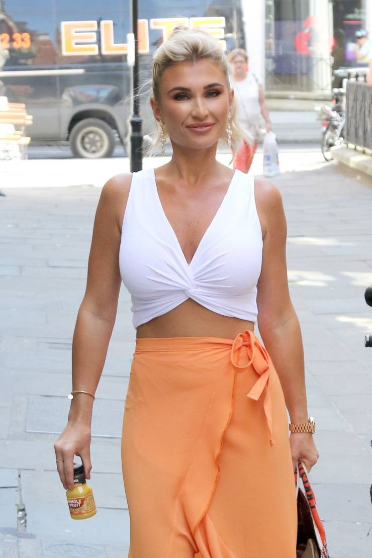Billie Faiers At Tropicana Whole Fruit Press Launch in London