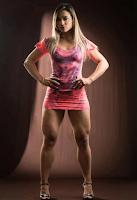 Female bodybuilding fitness model Transformation