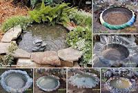 пруд для дачи, как сделать водоем, как сделать пруд, пруд из колеса