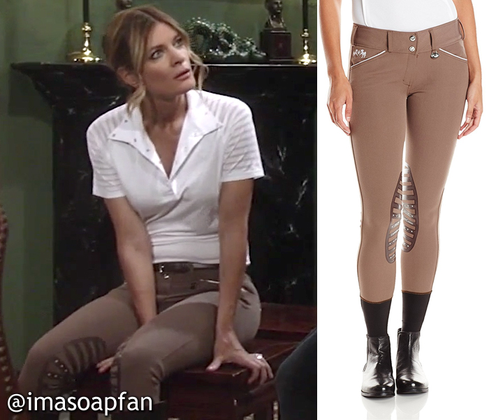 Nina Reeves, Michelle Stafford, Brown Breeches, Equestrian Clothing, Equine Couture, GH, General Hospital