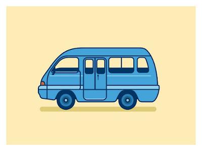 Gambar mobil angkot sederhana