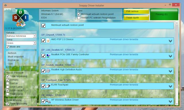 Biasanya yang lebih sering dipakai oleh pengguna atau mungkin seorang teknisi komputer u Snappy Driver Installer Rekomendasi Untuk Install Driver Laptop Lengkap