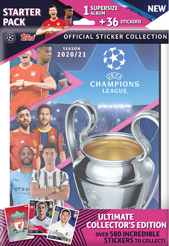 football cartophilic info exchange topps uefa champions league official sticker collection 2020 21 02 starter pack uefa champions league official sticker