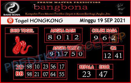 Prediksi Bangbona Togel Hongkong Minggu 19 September 2021