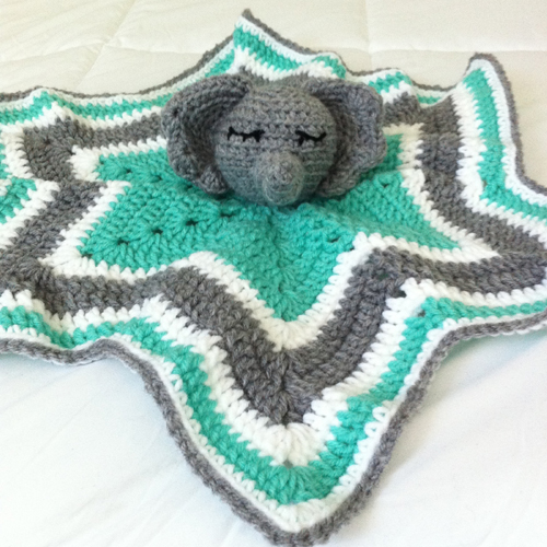 Chevron Elephant Lovey - Free Pattern