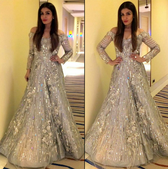 Raveena Tandon In Manish Malhotra