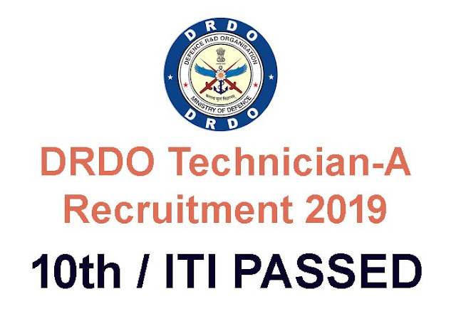DRDO Recruitment 2019 for ITI passed-Apply online for 351 Technician