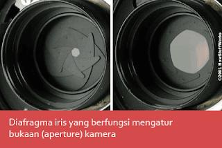 Diafragma iris sebuah kamera
