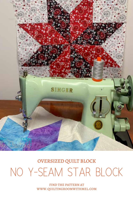 no y-seam eight point quilt block