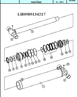 Xy lanh nâng cần của cẩu thủy lực Dong Yang SS1924-SS1926
