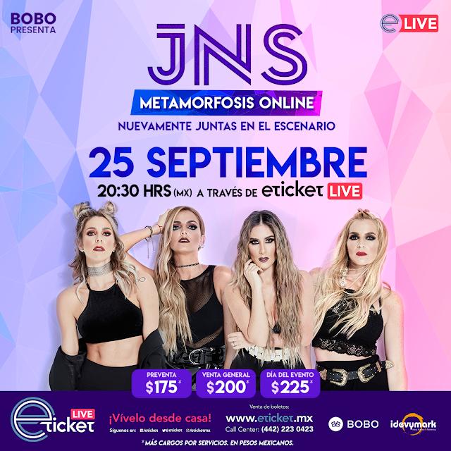 """Las JNS presentarán su """"Metamorfosis Tour"""" vía streaming a través de Eticket Live"""