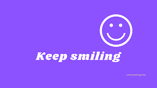 Keep smiling Desktop Wallpaper images with purple color background
