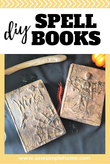 How to make a DIY spellbooks for simple Halloween decorating or as a fun fall project.