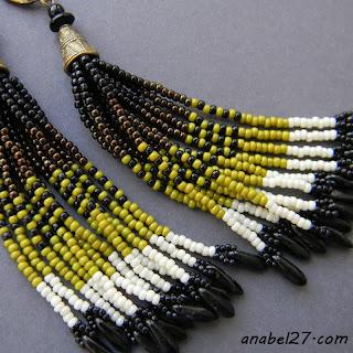 Серьги-кисти из бисера в этническом стиле - 184 / 365