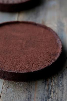 tarte ganache chocolat , pâte chocolat