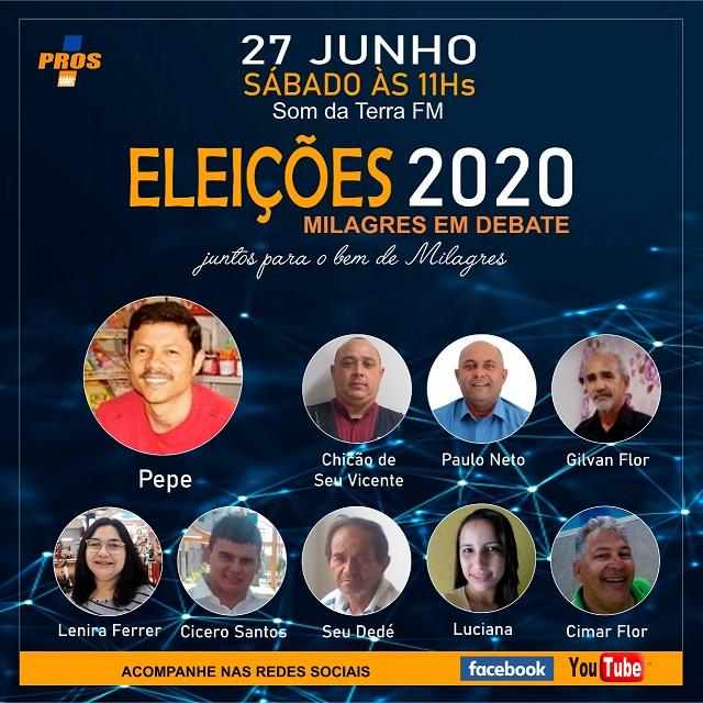 Programa 'Eleições 2020 - Milagres em Debate', da Som da Terra FM, recebe representantes do PROS