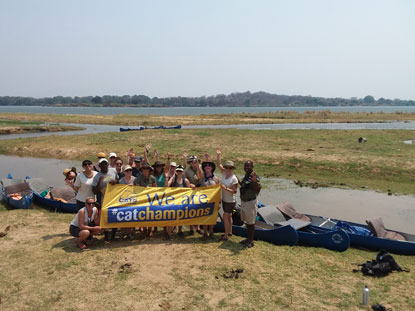 Cats Protection Zambezi canoeing