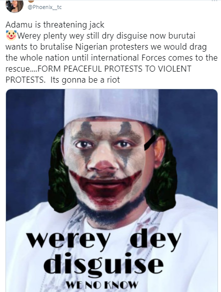"HILARIOUS 😂 ""Were Dey Disguise"" Nigerians drag Politician over his threat to sue Twitter CEO, Jack for supporting #EndSARS"