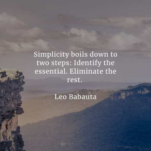 Simplicity quotes that'll enforce a good change on you