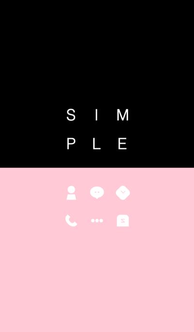 SIMPLE / black-pink.