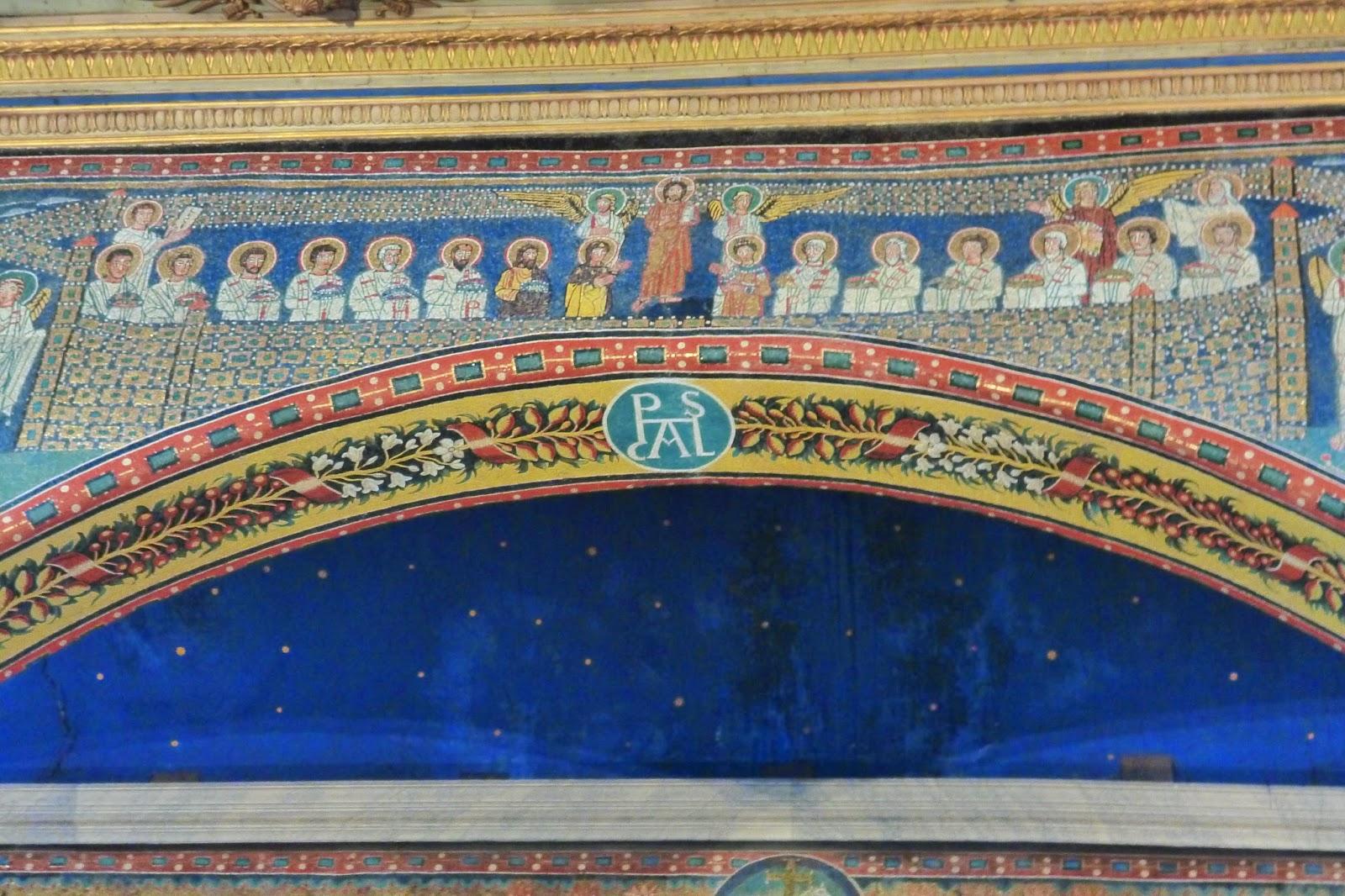 Basilica Santa Prassede mosaico apostolos - Basílica de Santa Prassede