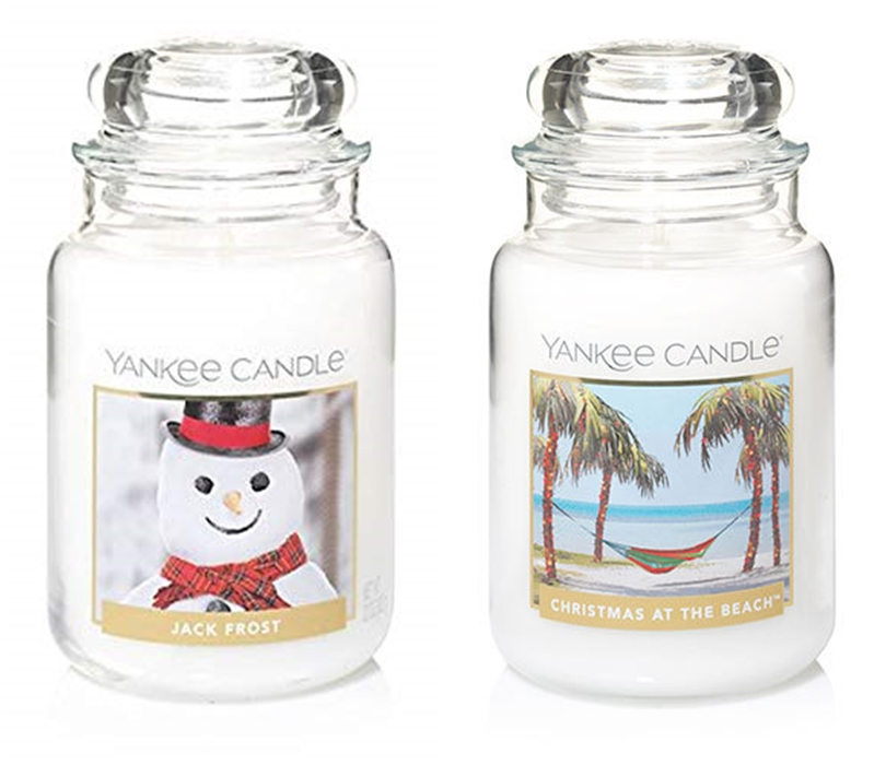 yankee candle jack frost i christmas at the beach