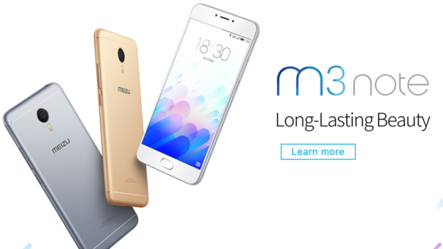 Meizu m3 Note with mTouch 2.1 fingerprint sensor