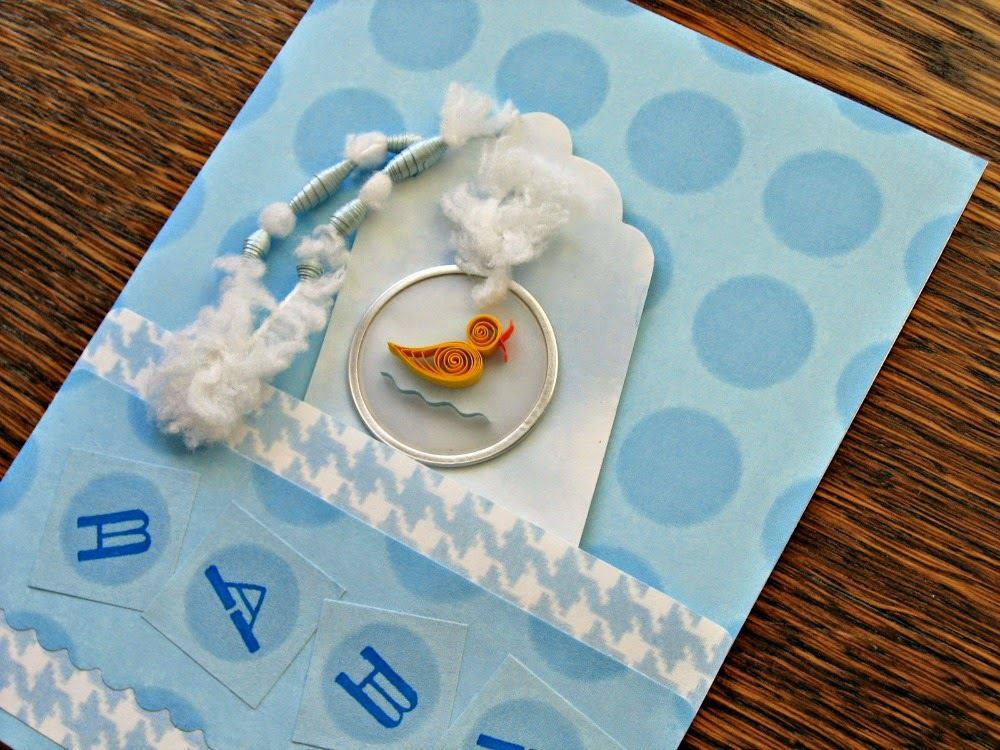 Quilled Duck Baby Card Tutorial by Ann Martin