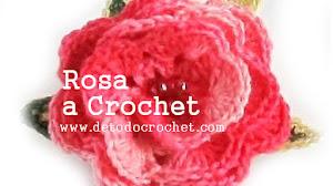 Cómo hacer rosas al crochet paso a paso en video