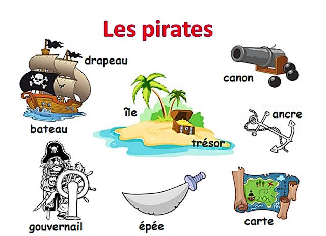 Piraci - słownictwo 9 - Francuski przy kawie