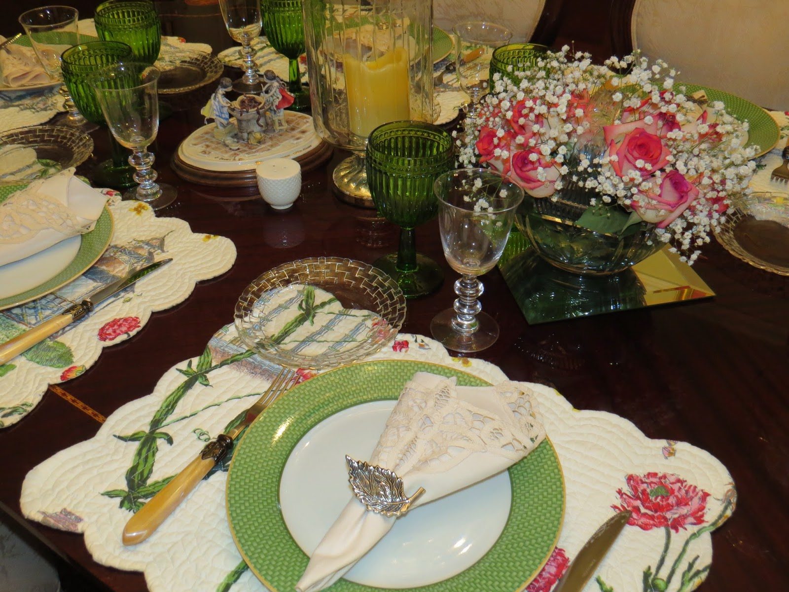 Luncheon table fabby s living my birthday luncheon table Simple table setting for lunch