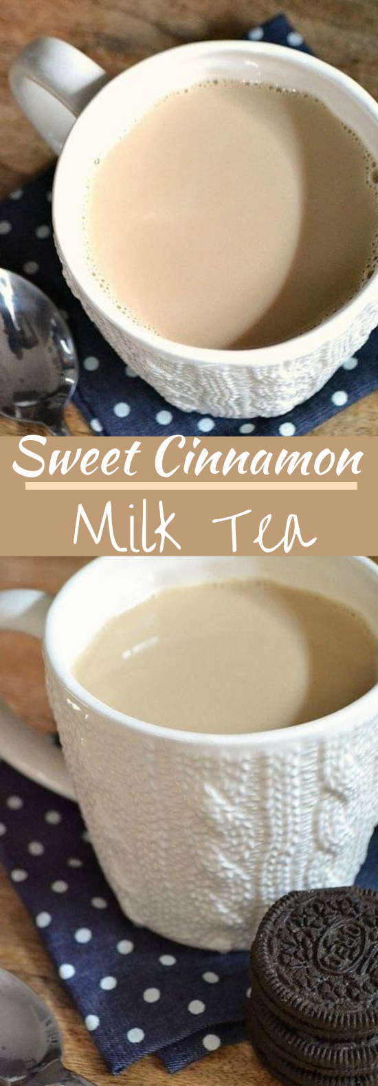 Sweet Cinnamon Milk Tea #drinks #milk