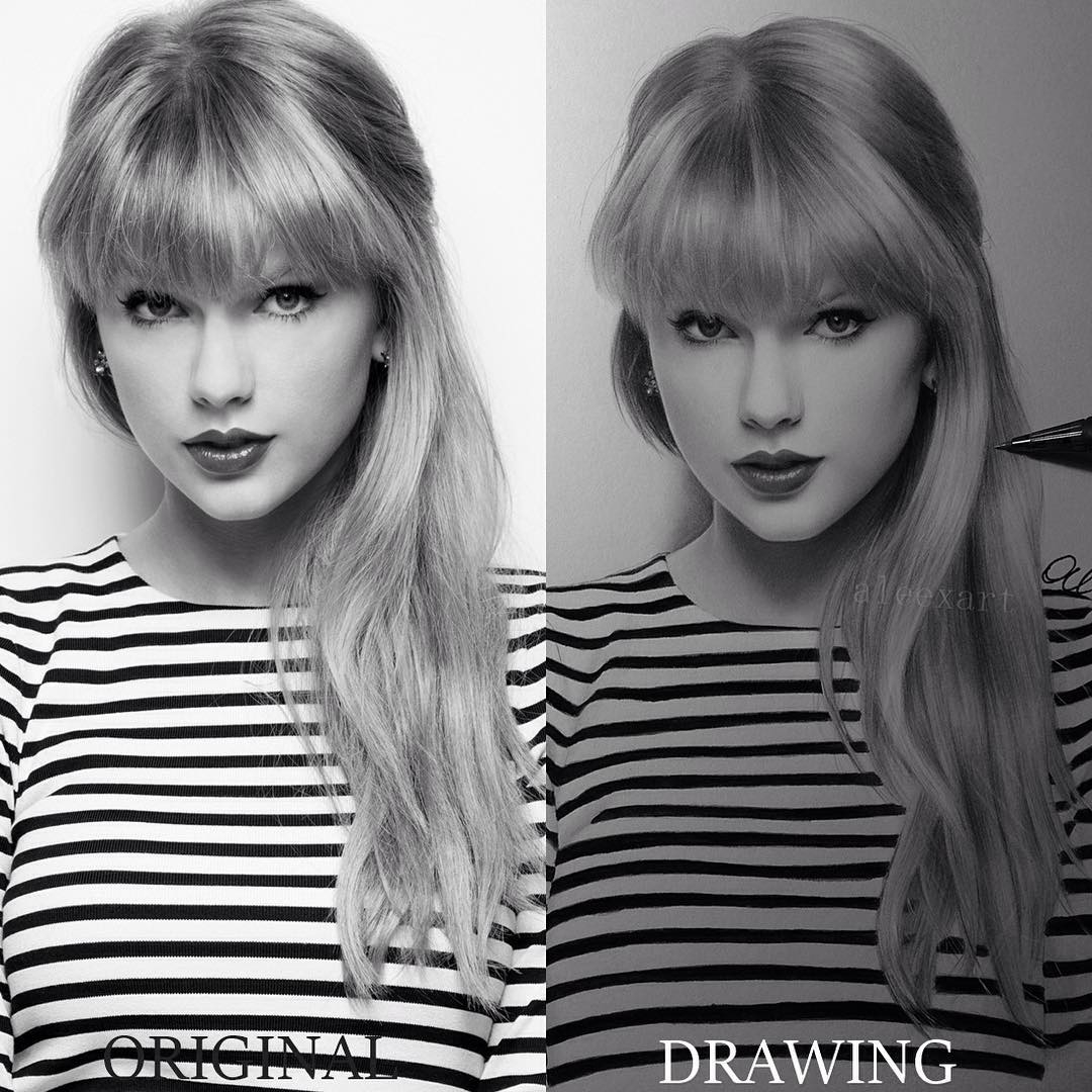 01-Taylor-Swift-Alex-Manole-Black-and-White-Hyper-Realistic-Portraits-of-Celebrities-www-designstack-co