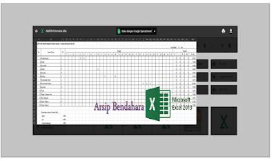 Format Absensi Excel Versi Otomatis - Arsip Bendahara