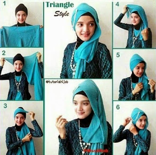 Tutorial Hijab Segitiga Pesta