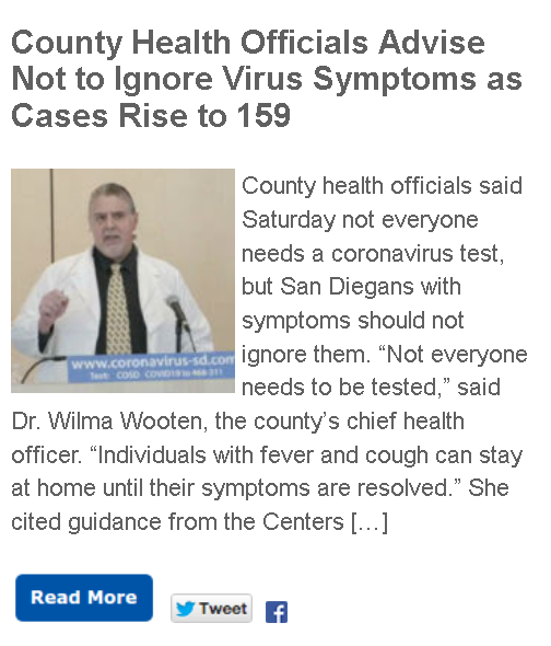 https://timesofsandiego.com/tech/2020/03/21/county-health-officials-advise-not-to-ignore-virus-symptoms-as-cases-rise-to-159/