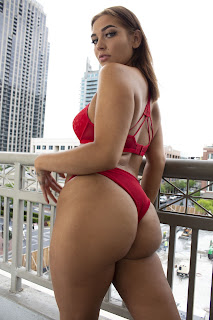 Atlanta Stripper Vivian wears Red Lingerie