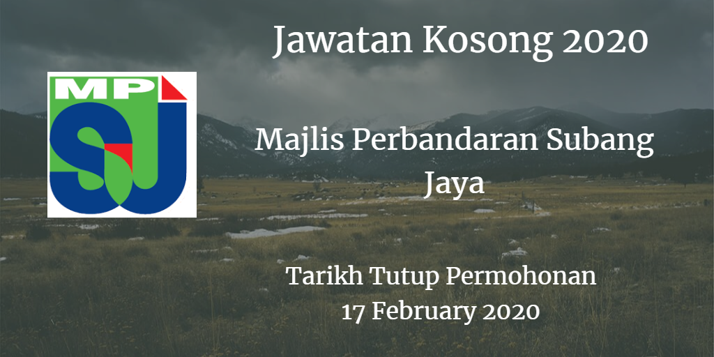 Jawatan Kosong MPSJ 17 February 2020