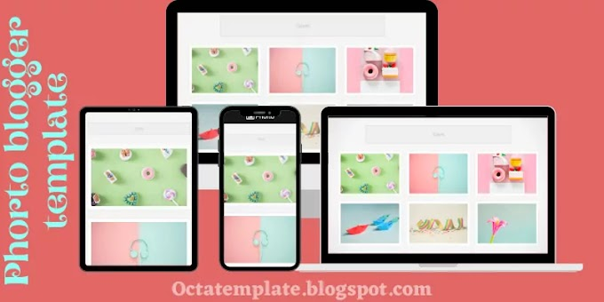Phorto Blogger Template | Grid styled photography blogger template
