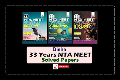 [PDF] Disha 33 Years NEET Physics, Chemistry, and Biology Solved Papers   Download